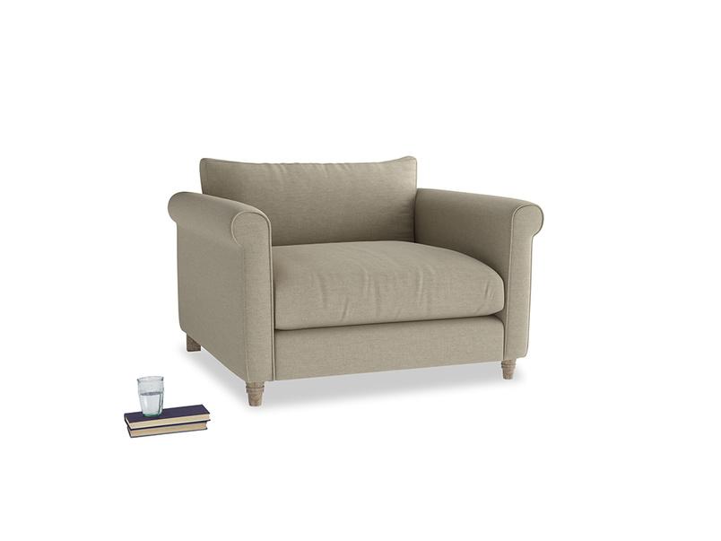 Love Seat Weekender Love seat in Jute vintage linen