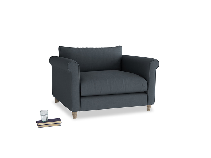 Love Seat Weekender Love seat in Lava grey clever linen