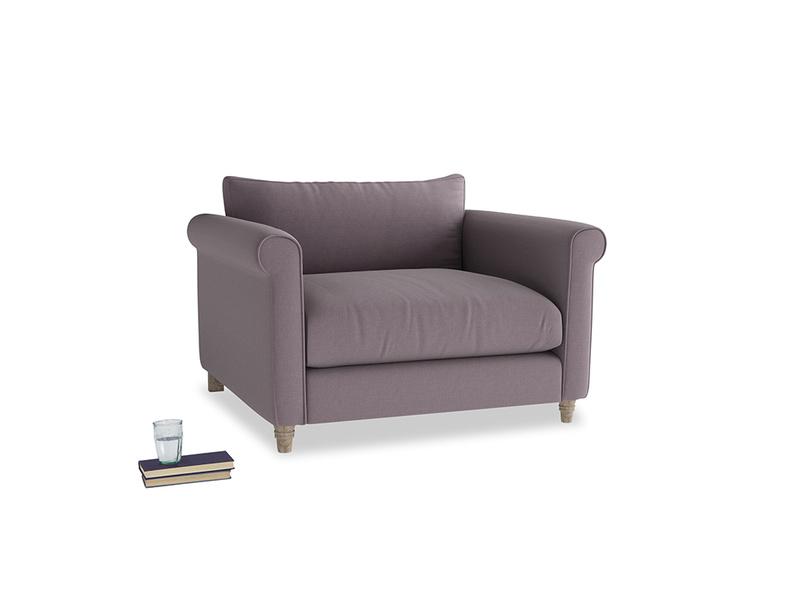 Love Seat Weekender Love seat in Lavender brushed cotton