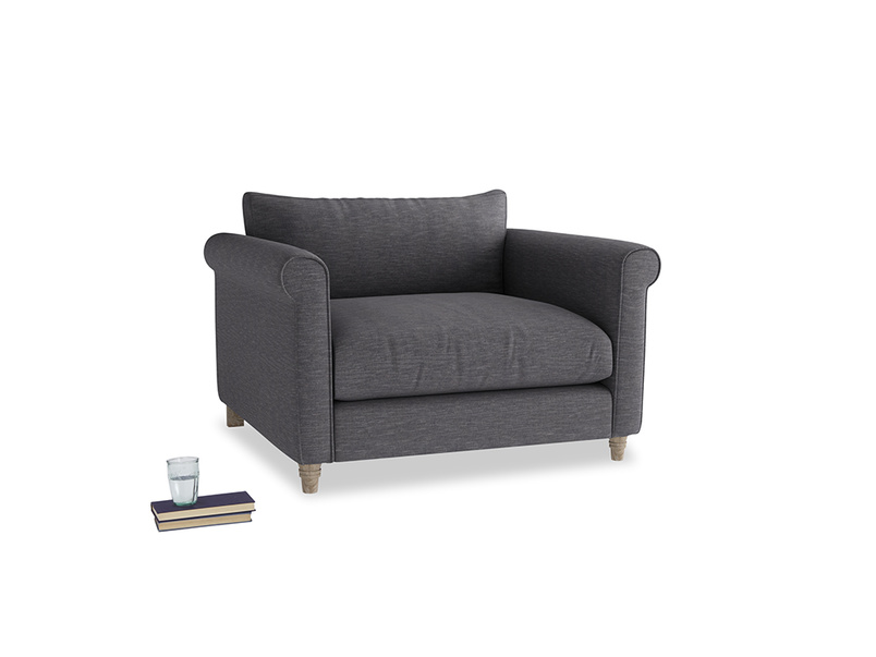 Love Seat Weekender Love seat in Lead cotton mix