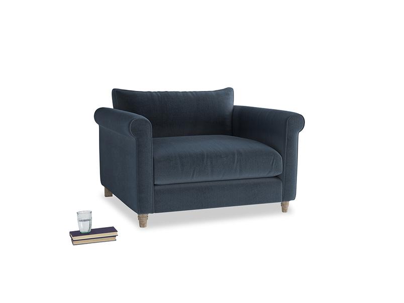 Love Seat Weekender Love seat in Liquorice Blue clever velvet