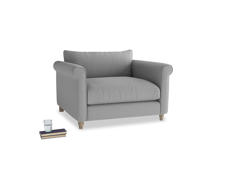Love Seat Weekender Love seat in Magnesium washed cotton linen