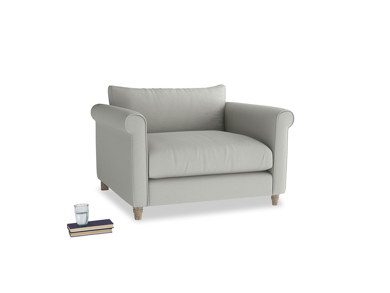 Love Seat Weekender Love seat in Mineral grey clever linen