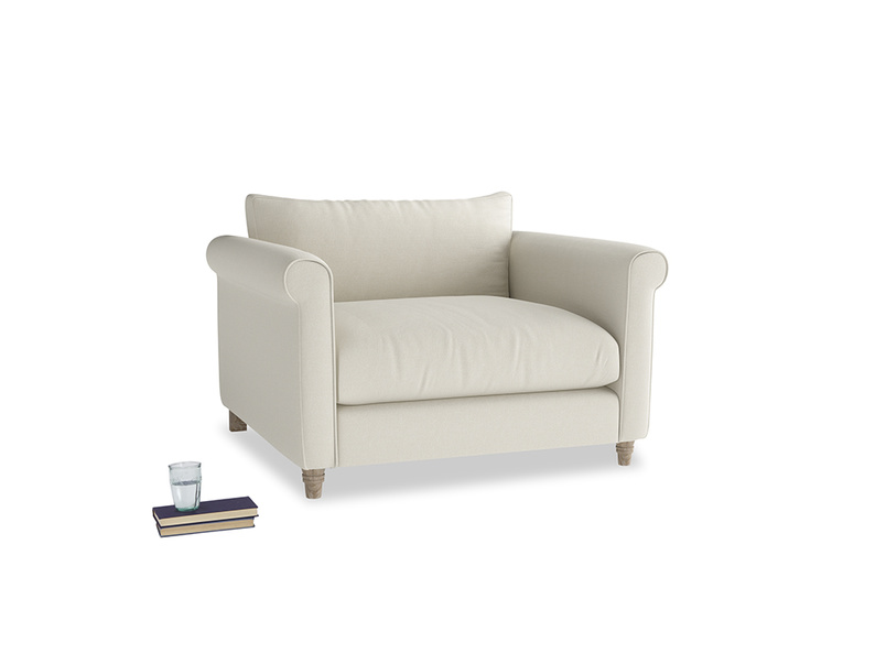 Love Seat Weekender Love seat in Oat brushed cotton