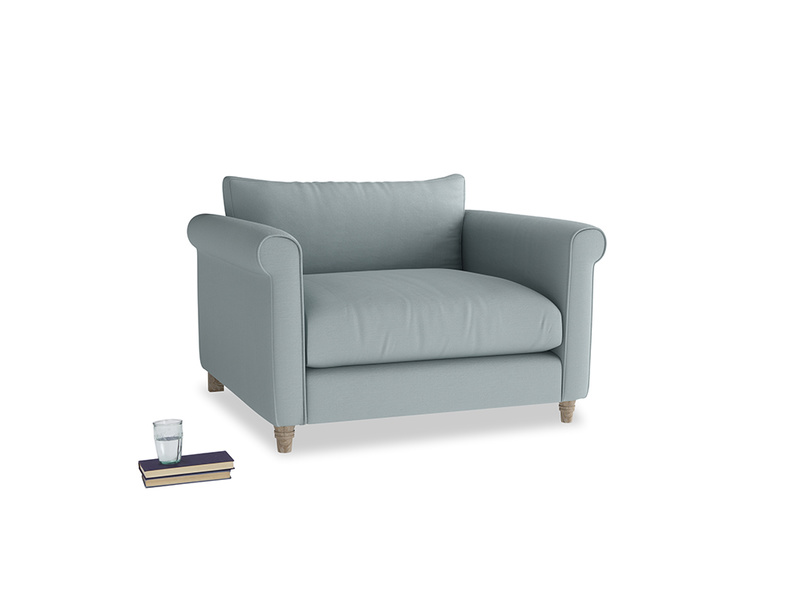 Love Seat Weekender Love seat in Quail's egg clever linen