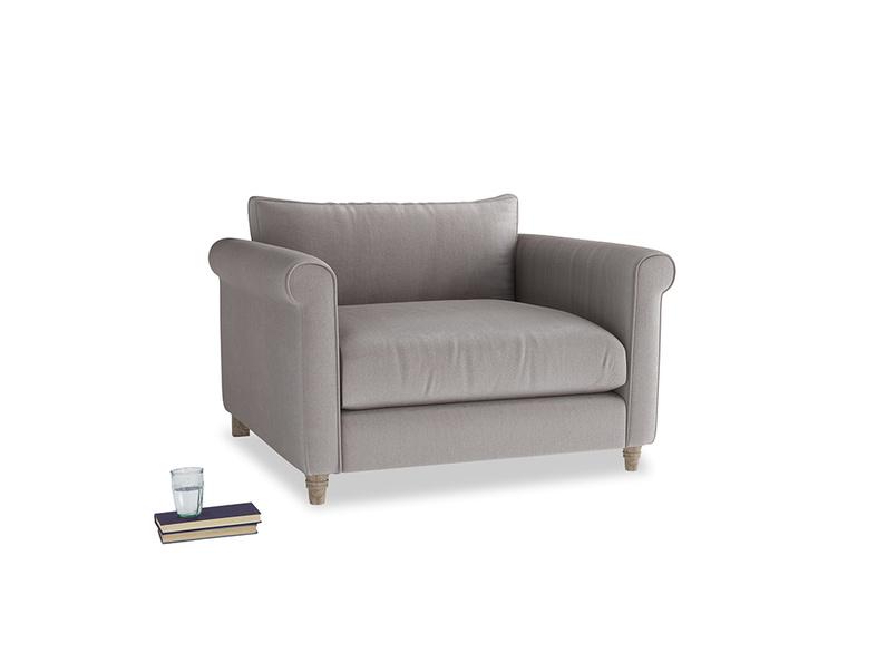 Love Seat Weekender Love seat in Soothing grey vintage velvet