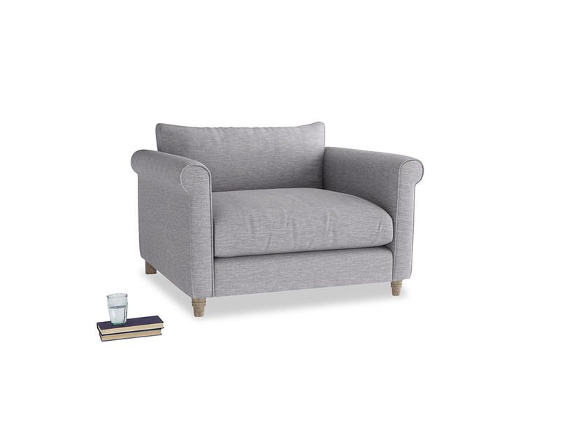 Love Seat Weekender Love seat in Storm cotton mix