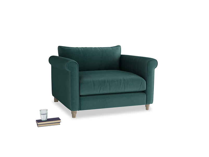 Love Seat Weekender Love seat in Timeless teal vintage velvet