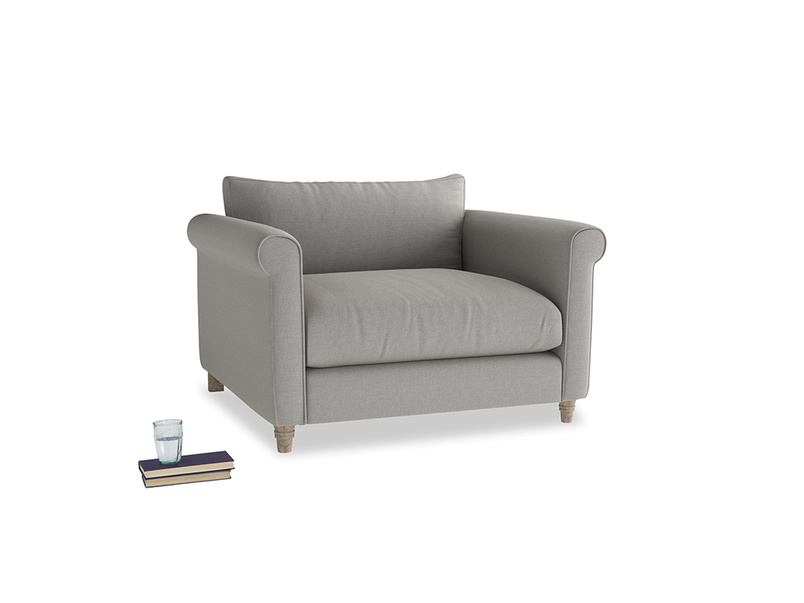 Love Seat Weekender Love seat in Wolf brushed cotton