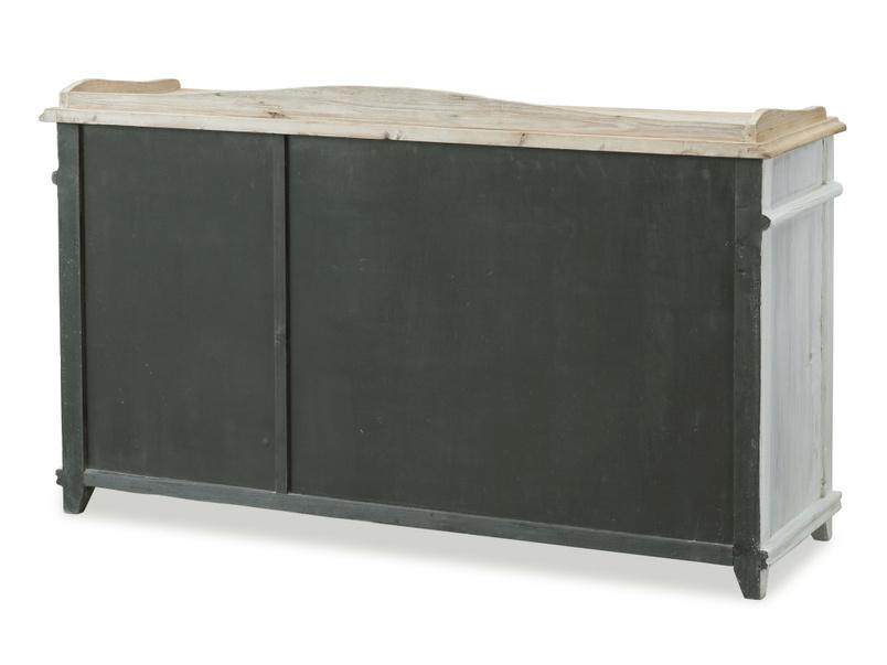 Vintage Grand Teardrop french vintage wooden grey antique sideboard