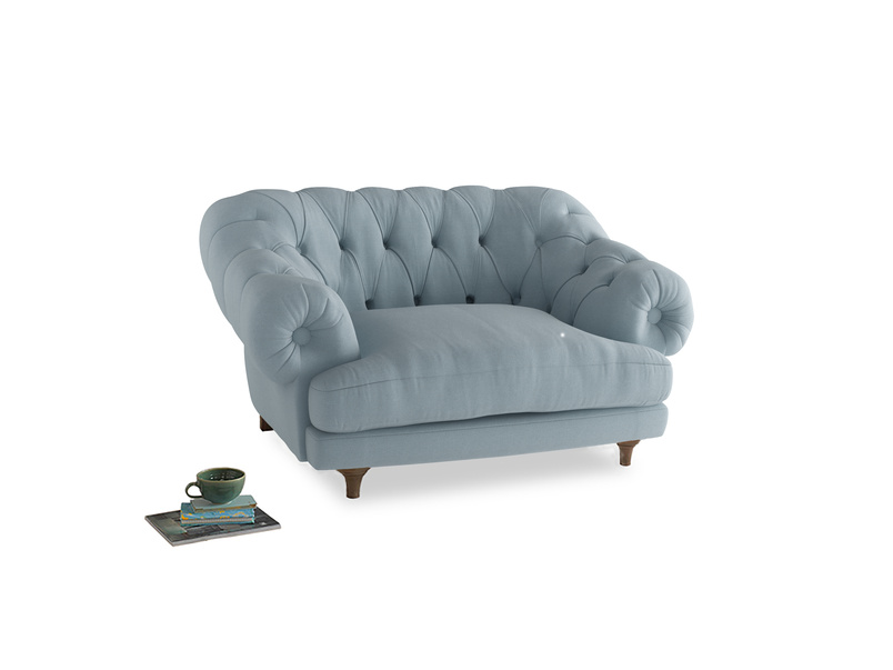 Bagsie Love Seat in Soothing blue washed cotton linen