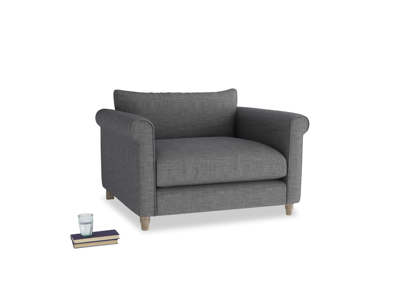 Love Seat Weekender Love seat in Strong grey clever woolly fabric
