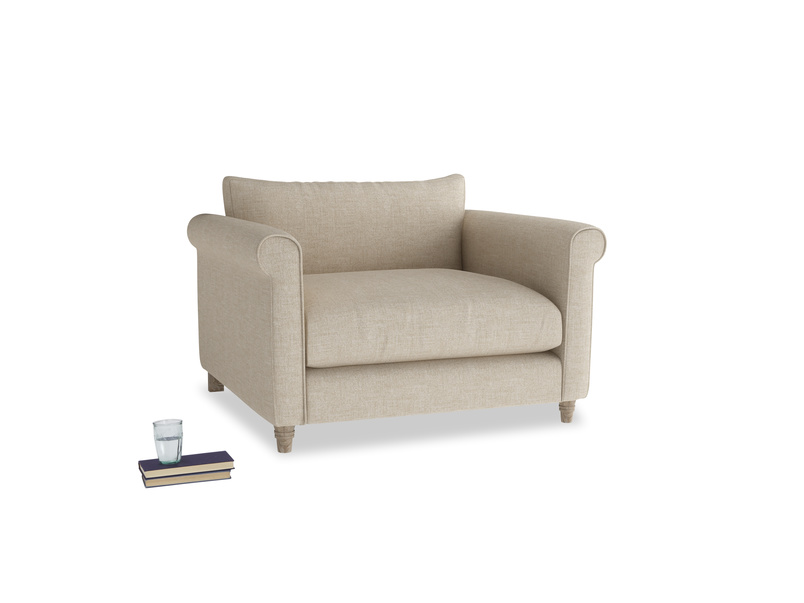 Love Seat Weekender Love seat in Flagstone clever woolly fabric
