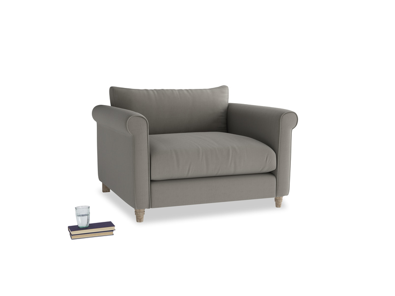 Love Seat Weekender Love seat in Monsoon grey clever cotton