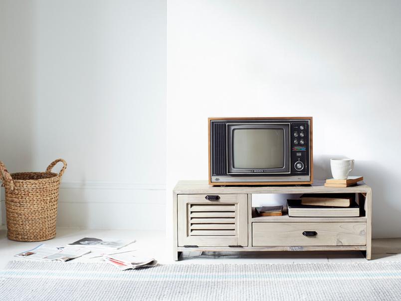 Retro reclaimed fir Teeny Toot Sweet TV stand