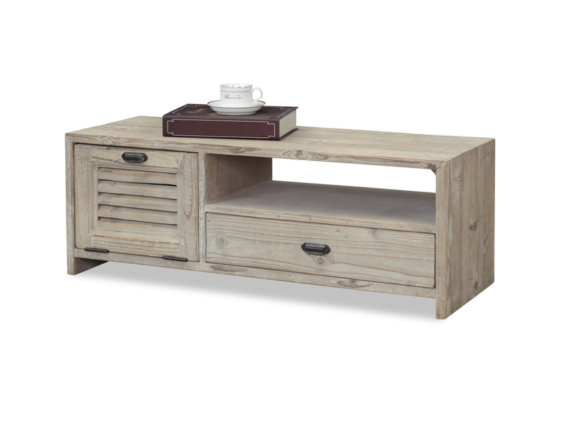 Solid wood small Teeny Toot Sweet retro reclaimed TV stand