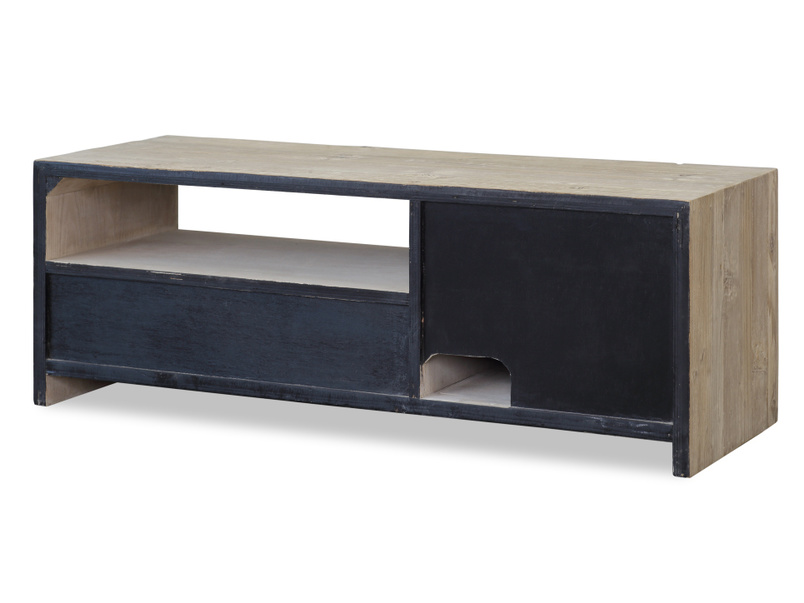 Wooden small Teeny Toot Sweet reclaimed retro TV stand