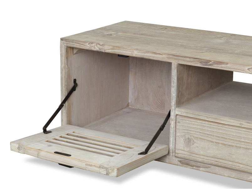 Solid wood reclaimed small Teeny Toot Sweet retro TV stand