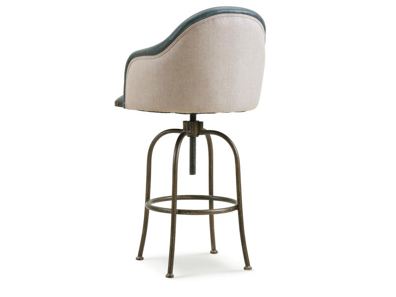 Milk counter and breakfast bar swivel upholstered stool