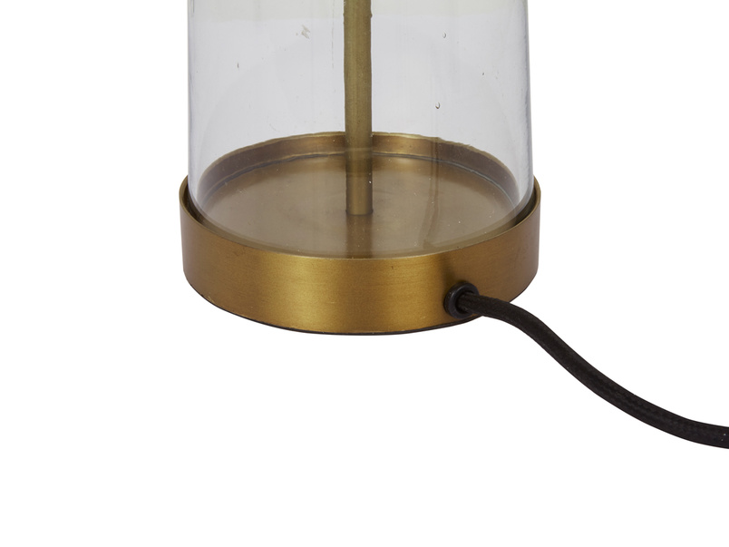 Diner glass table lamp