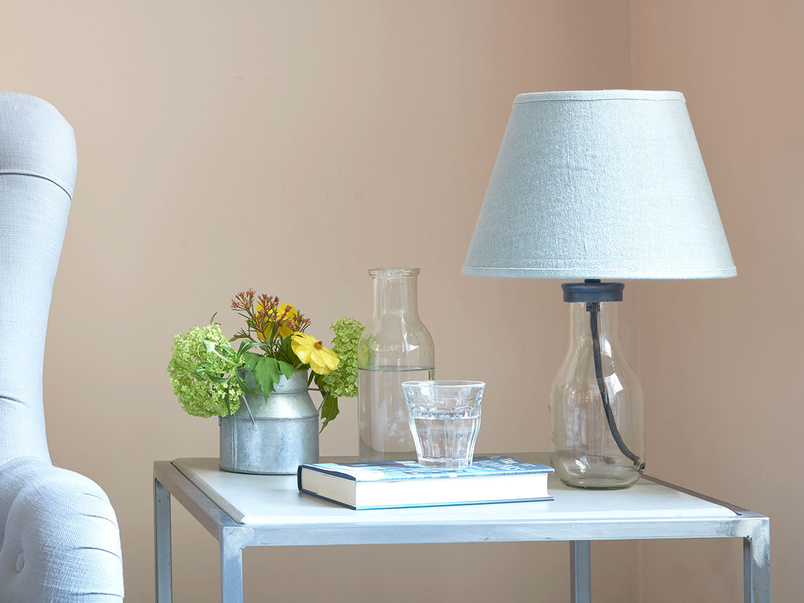 Milk Bottle glass shaped table lamp