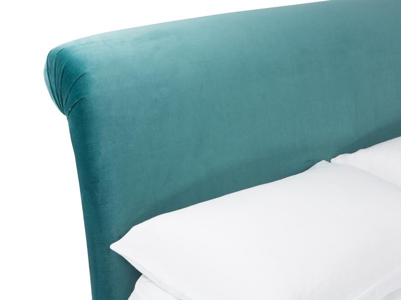 Dumpling upholstered curved bed