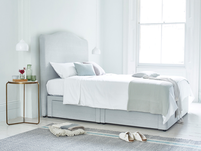 Tall Luna french style upholstered headboard