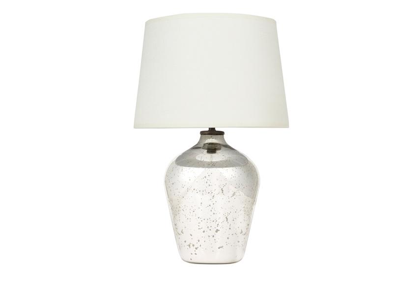 Small Brekka mercury glass table lamp