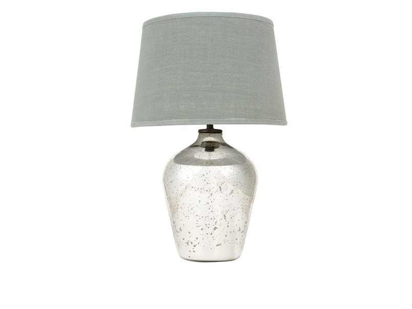 Small Brekka vintage mercury glass table lamp