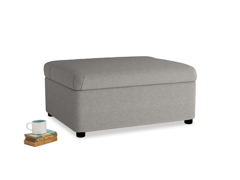 Single Bed in a Bun in Marl grey clever woolly fabric