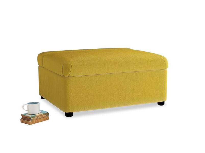 Single Bed in a Bun in Bumblebee clever velvet