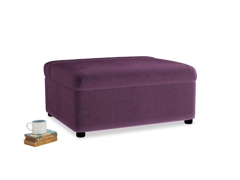 Single Bed in a Bun in Grape clever velvet