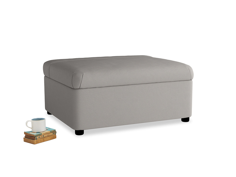 Single Bed in a Bun in Safe grey clever linen