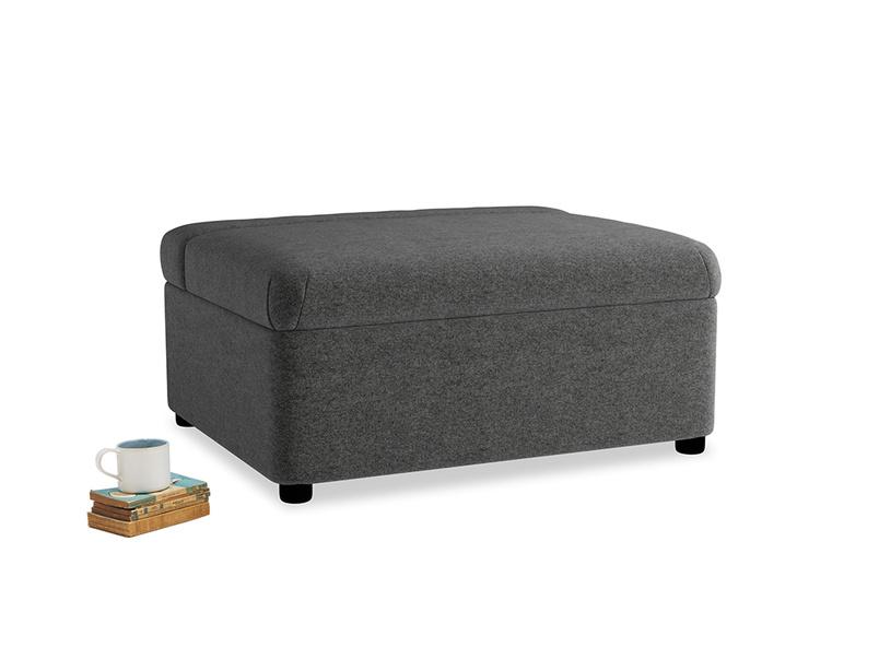Single Bed in a Bun in Shadow Grey wool