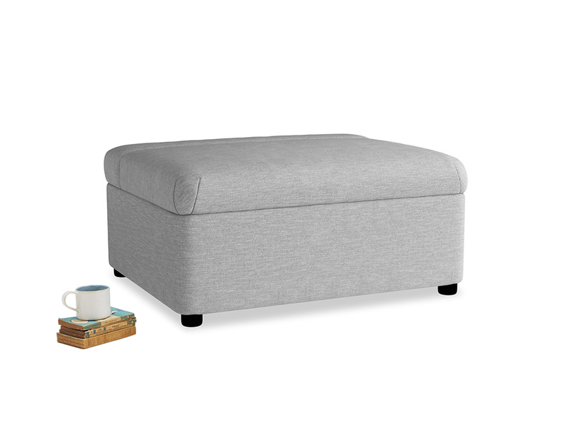 Single Bed in a Bun in Mist cotton mix