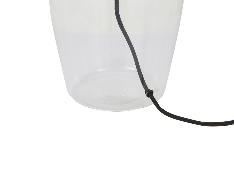 Medium Flagon table lamp with glass base