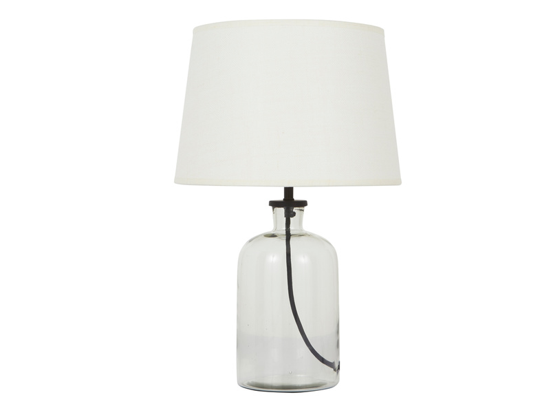 Small Apothecary Table Lamp with Natural Hessian shade
