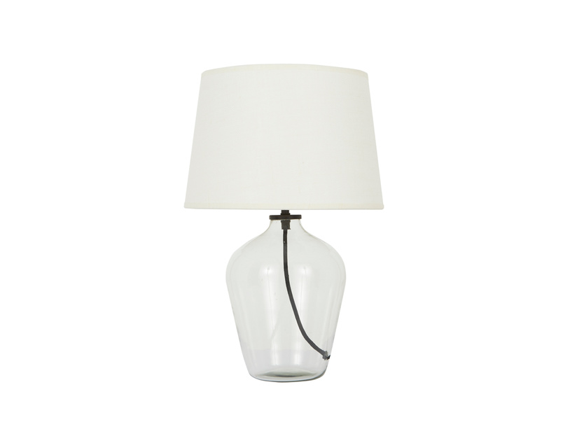 Small Flagon table lamp with glass base