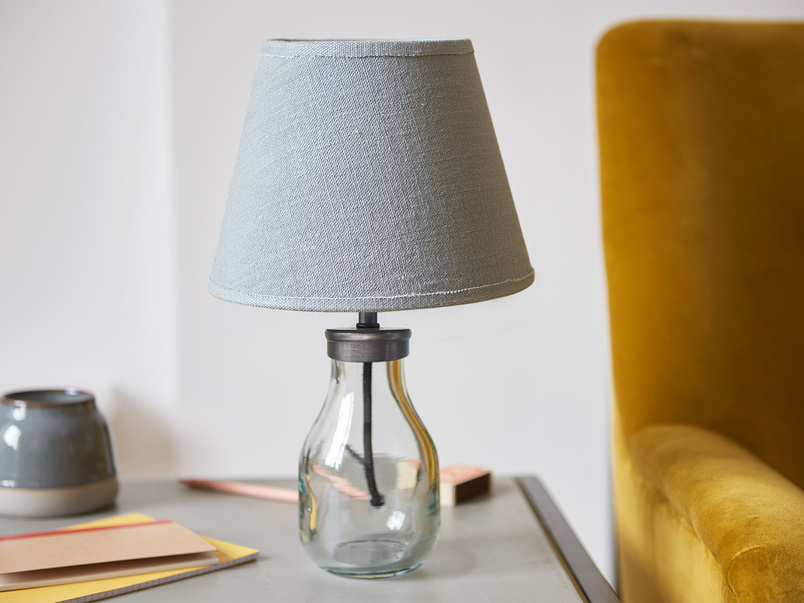 Mini Milk Bottle glass table lamp base with plain shade