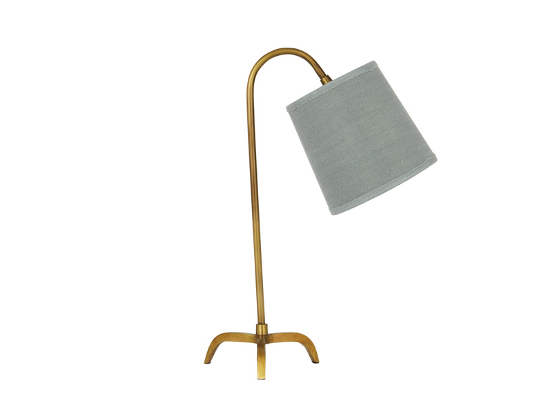 Little Slam Dunk In Brass lamp with Sea Salt shade
