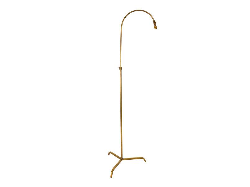 Slam Dunk Floor Lamp In Brass base