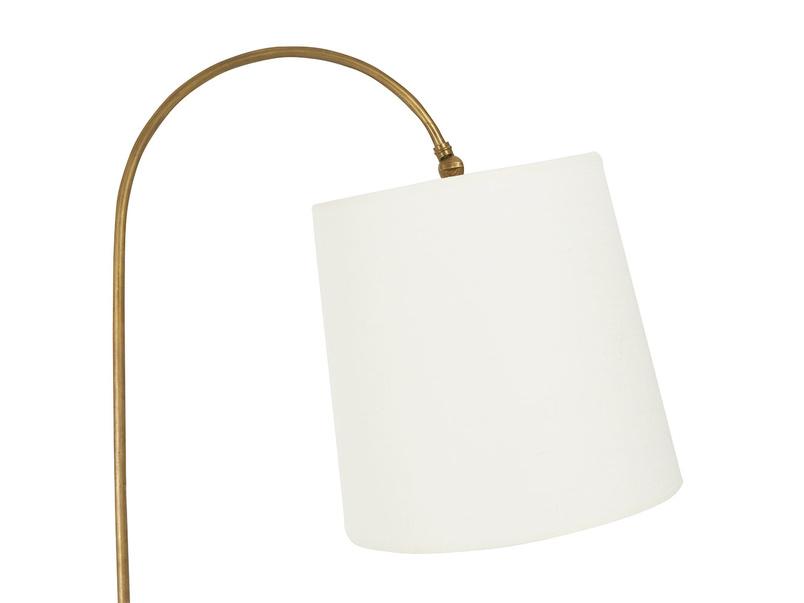 Slam Dunk elegant brass floor lamp with plain shade