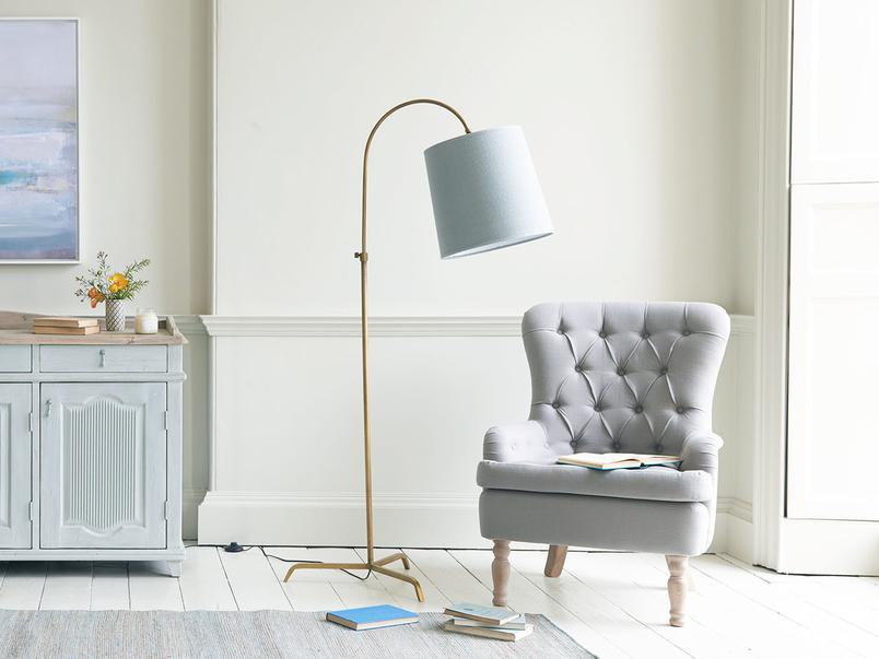 Lovely Slam Dunk elegant curved floor lamp