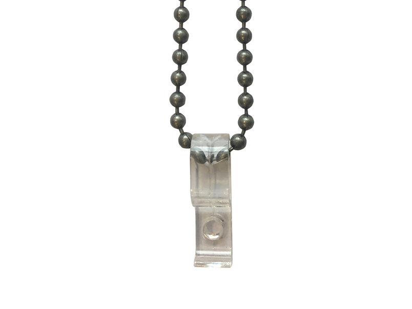 Roman Blinds - vintage-y pewter chain and safety clip