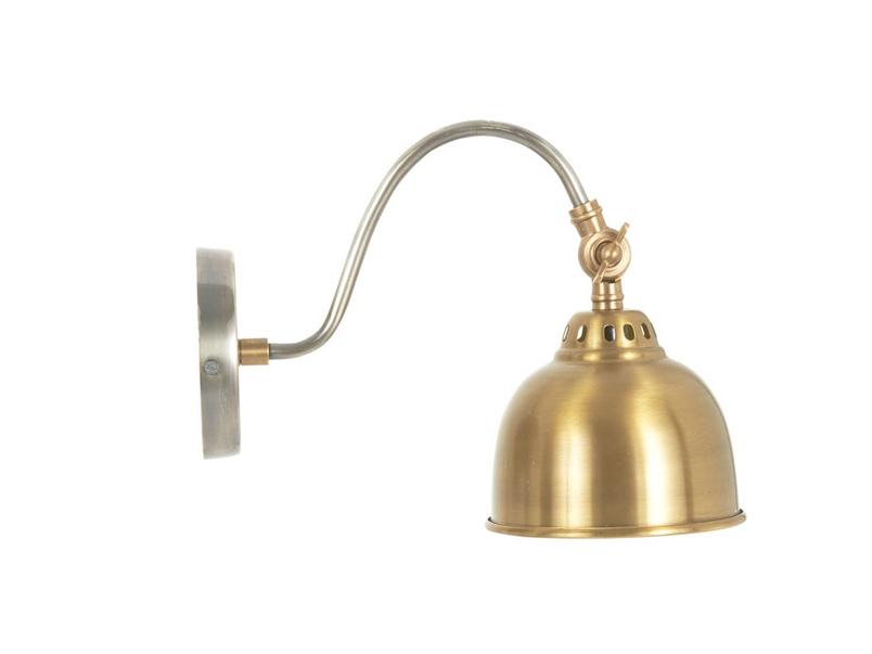 Gaston brass wall light