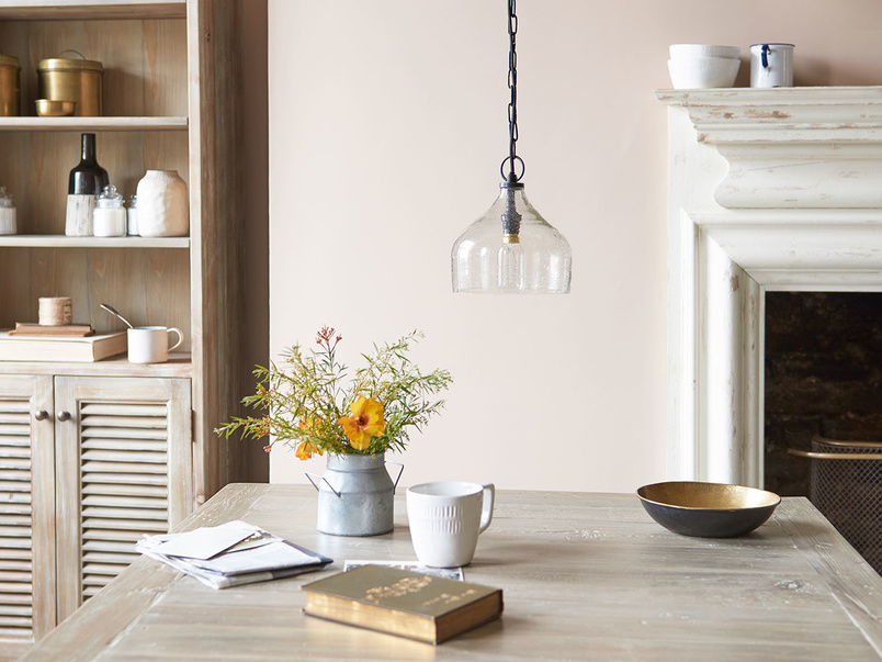 Small Cowbell bell shaped glass hanging pendant light