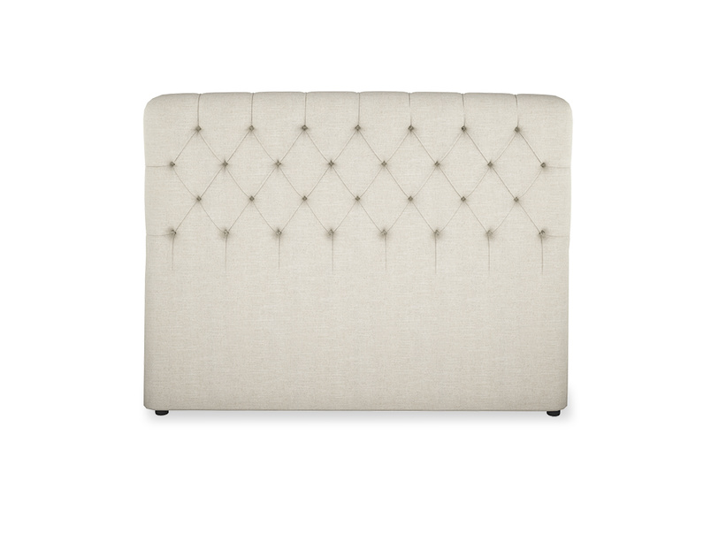 British made upholstered buttoned contemporary headboard