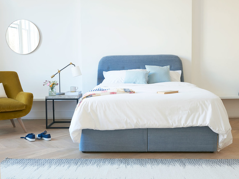 Store ottoman storage bed with our Napper headboard