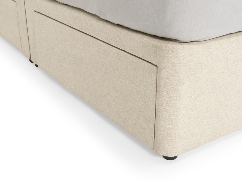 Modern Tight Space divan bed base with storage drawers