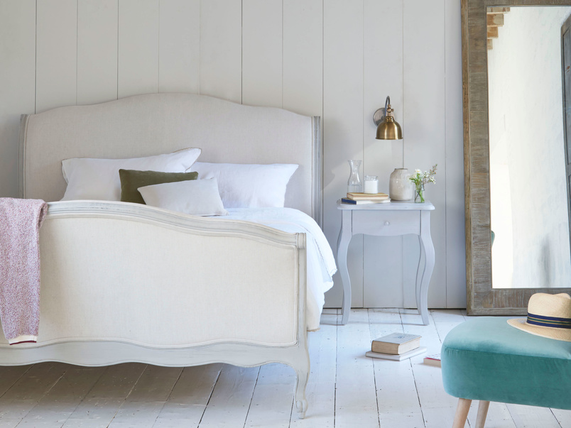 Antoinette French bed in Scuffed Grey